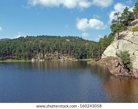 A view of Horse Thief Lake in the Black Hills of South Dakota