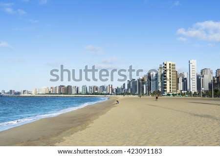 A view of Iracema Beach in Fortaleza, Ceara, Brazil.