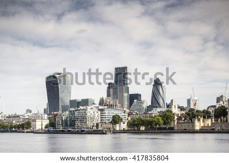 a view of london city skyline