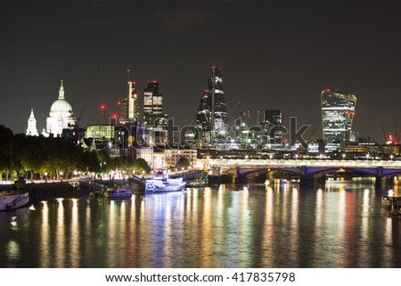 a view of london city skyline iver thames
