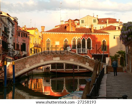 a view of one of the many residential areas in venice