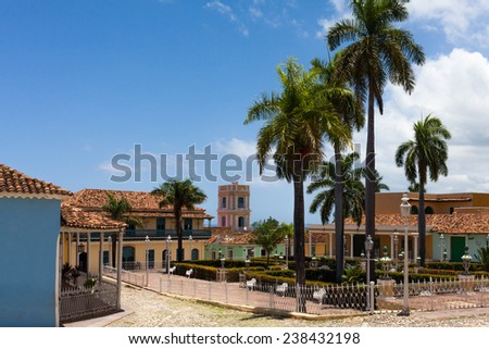 A view of plaza mayor in Trinidad Cuba - stock photo