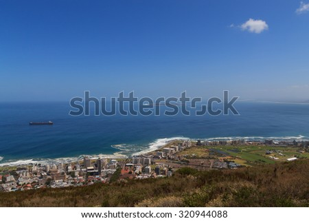 A view of Robben Island, Cape Town - stock photo