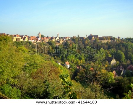 A view of Rottenburg am Neckar, Germany