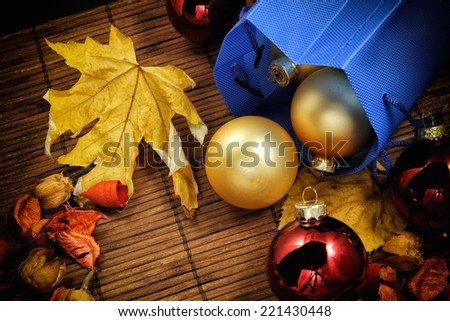 a view of some christmas decoration - stock photo