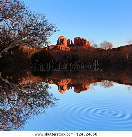 A view of some of the red rocks in Sedona, Arizona, USA - stock photo