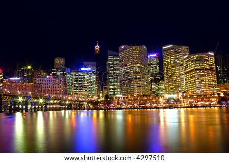 A view of Sydney's skyline and Sydney Harbour