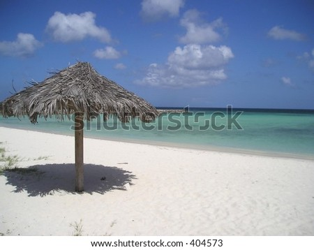 A view of the beach in Aruba