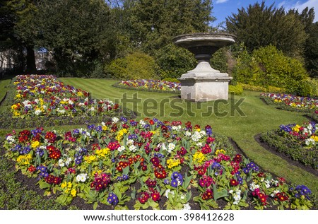 A view of the beautiful Royal Victoria Park in Bath, Somerset. - stock photo