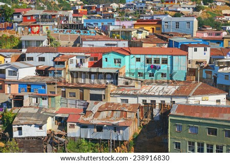 A view of the colorful city of Valparaiso, Chile
