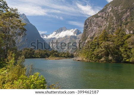 A view of the Milford Sound - Fiordoland, New Zealand
