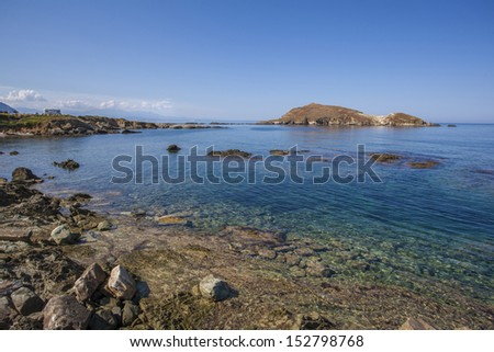 A view of the sea of Centuri, Corse, France