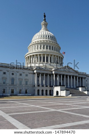 A view of the United States Capitol Building in Washington, DC.