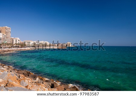 a view of Torrevieja, Spain