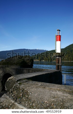 A view of Vancouver lighthouse. - stock photo