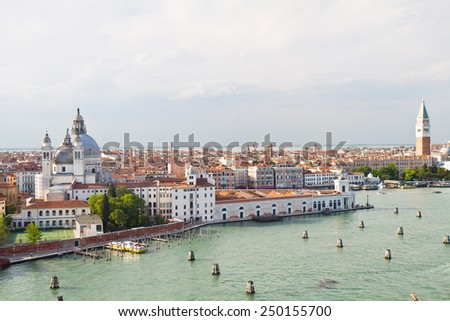 a view of Venice Italy  - stock photo