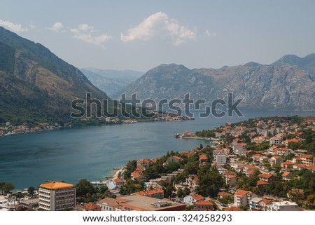 A view over Kotor bay, Montenegro