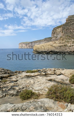 A view which are showing the Xlendi 'Kantra', one of the most beautiful places just outside the village of Xlendi the village.