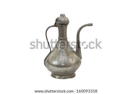 A Vintage Ewer Isolated on a White Background