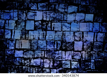 A vintage grunge background with cracks - stock photo