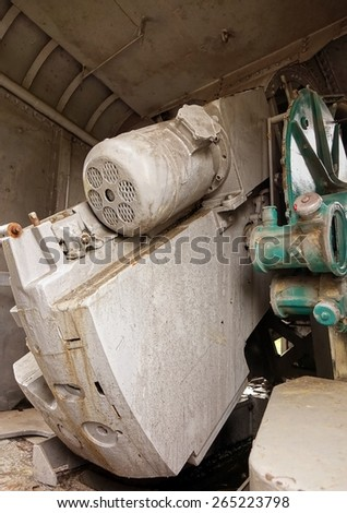 A vintage naval artillery equipment from World War Two  - stock photo