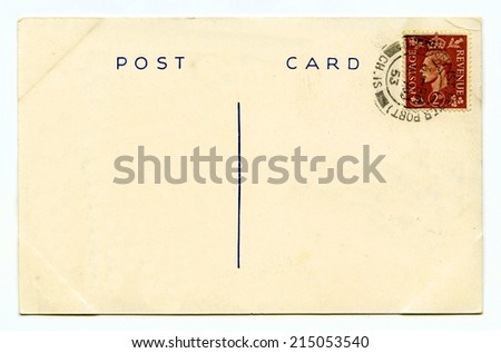Plain Postcards Stock Images, Royalty-Free Images & Vectors ...