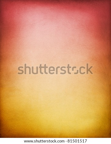 A vintage, textured paper background with a yellow-brown to red  gradient.  See my portfolio for other color variations of this background.