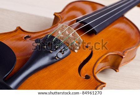 a violin and wood texture