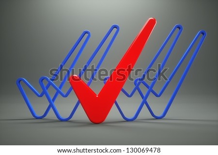 a vote marks on grey - stock photo