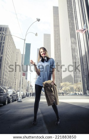A walk through the city  - stock photo