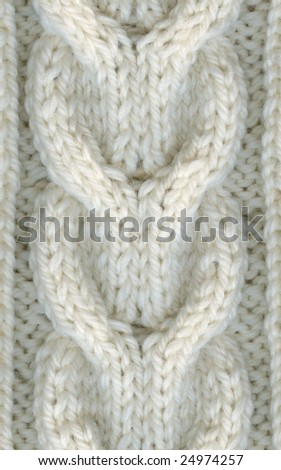 A warm winter, wool sweater texture, fragment, white, closeup. - stock photo