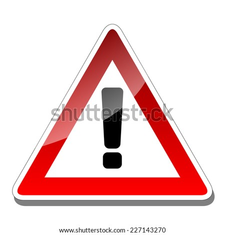 A warning sign - stock photo