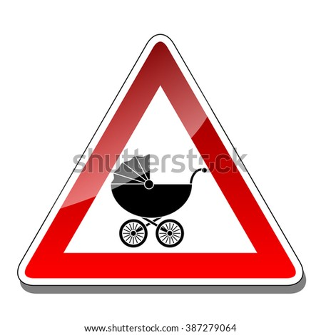 A warning sign baby - stock photo