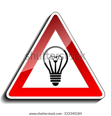 A warning sign ideas - stock photo