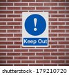 A warning sign indicating Keep Out   - stock photo