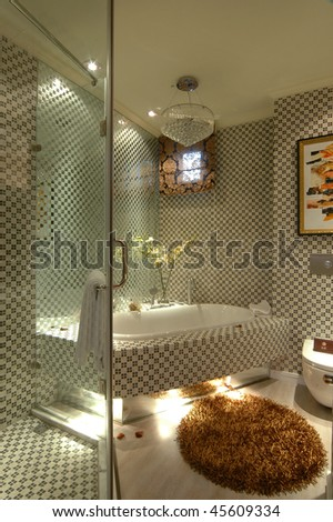 a washroom in modern and simple style