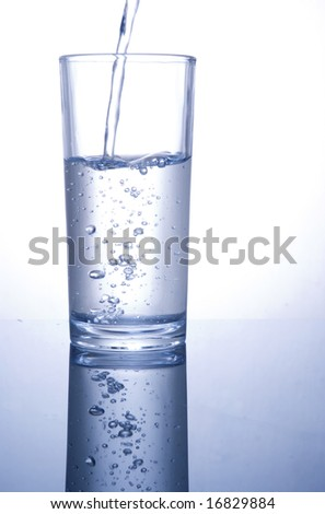 A water glass half full