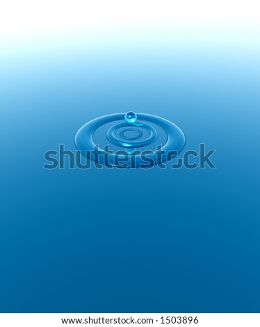 A water ripple.