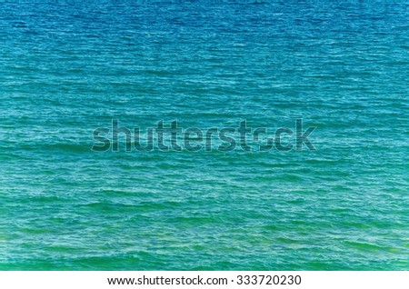 A Water Surface of the Black Sea - stock photo