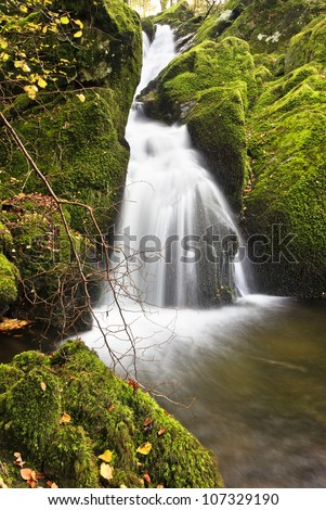 A waterfall above the Cumbrian town of Ambleside in Autumn