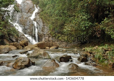 A waterfall in the mountains near Cali, Colombia