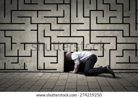 A way to escape - stock photo