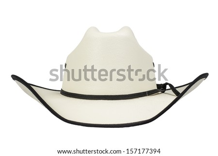 A western cowboy hat isolated on a white background. - stock photo