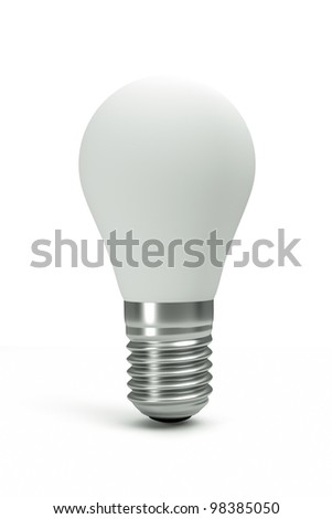 a white bulb isolated on white