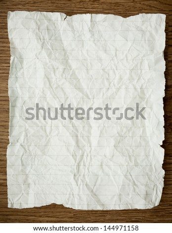 A white crumpled paper for background
