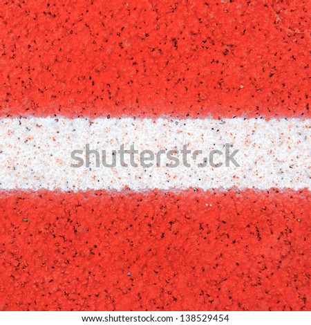 A white line on track ground - stock photo
