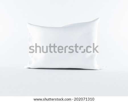 a white pillow on the white background