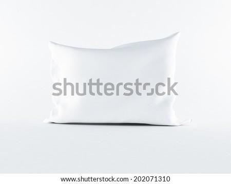 a white pillow on the white background - stock photo