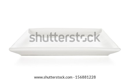 A white plate isolated on a white