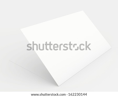 A white sheet of paper in soft shades of gray